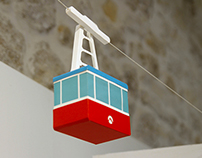 Paper toy (cable car)
