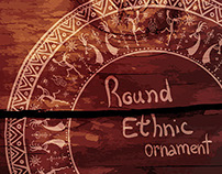Collection of ethnic round ornaments