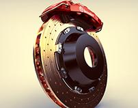 DiscBrake Brembo 3D (Maya)