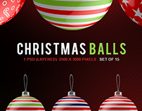 Christmas Balls set of 15