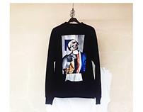 Sweatshirts with handmade collages by Matlashenko