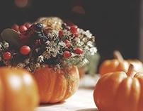Halloween Pumpkin flower