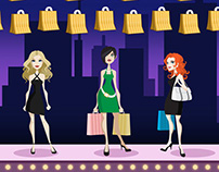 Girls Night Out slot artwork and animations