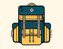 Camping Backpack Animation