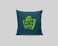 eco shop logo identity