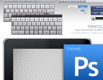 iPad GUI Kit from Raw Apps (Ver. 1.0)