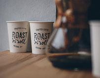 """Branding for roastery-coffee shop """"Roast'n'roll"""""""