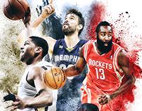 NBA 'Everybody Up' Campaign Artwork