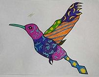 Hummingbird ~ Romero Britto Style