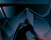 STAR WARS VII - the Dark Side- Vector sketch