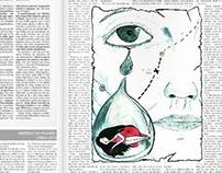 illustration for a newspaper's short story.