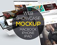 Web Showcase PSD Mockups Macbook | iPhone 6 | iPad