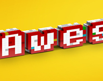 The Lego movie typographic fan art