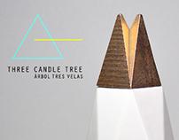 THREE CANDLE TREE