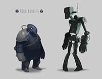Robo Buddies - Character design and illustration