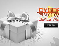 Cyber Monday Kindle Wakescreen Ad + Concepts