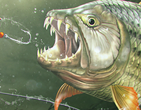 Tigerfish Digital Painting