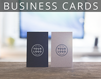 Free Standing Business Cards Mockups. 3 PSD's