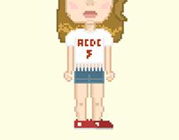 Lana del Rey en Pixel Art