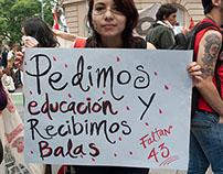 Movilización en apoyo a Ayotzinapa