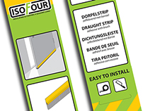 ISOFOUR Draught strip packaging design