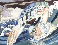 The Swimmer. Leander and Hero, greek myth