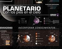 Infografía del Planetario de Buenos Aires