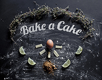 bake a cake - typography