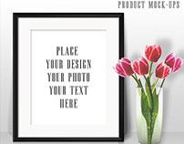 Tulips & Black Frame Mock-ups
