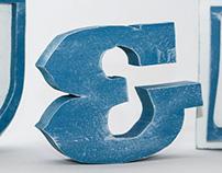 E & S wood letters