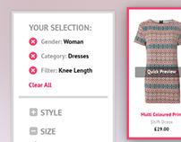 Dress Shop UI