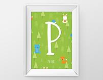 Baby Nursery Forest Monogram