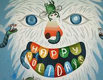 Animated yeti holiday card