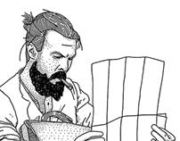 Ilustraciones para la revista Gentleman (México)