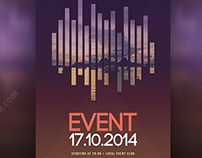 Modern Event flyer template PSD