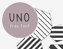 UNO- free handwriting font