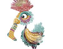 Paradiesvogel mit Socke