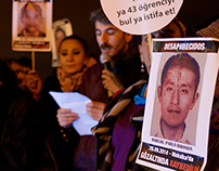 Solidarity for #Ayotzinapa in Istanbul