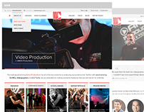 Amos Productions - Web Design