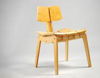 Ergonomic Plywood Chair