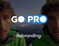 GO PRO Rebranding. Self Initiated Project