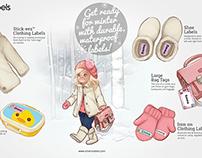 Oliver's Labels winter promo artwork