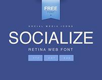 SOCIALIZE | FREE RETINA WEB FONT