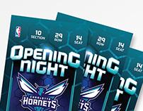 2014 Hornets Opening Night Commemorative Ticket