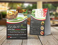 Restaurant and Cafe Table Tent Template Vol7