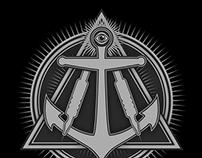 Black Anchor Logo Animation