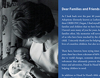 Direct Mail Piece - Hand In Hand Intl Adoptions