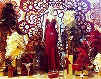 criação/produção vitrine de natal da loja Thais Nader