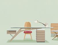 Carlo Mollino's furniture within my furture room