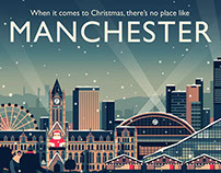 Owen Davey - Manchester Christmas Campaign